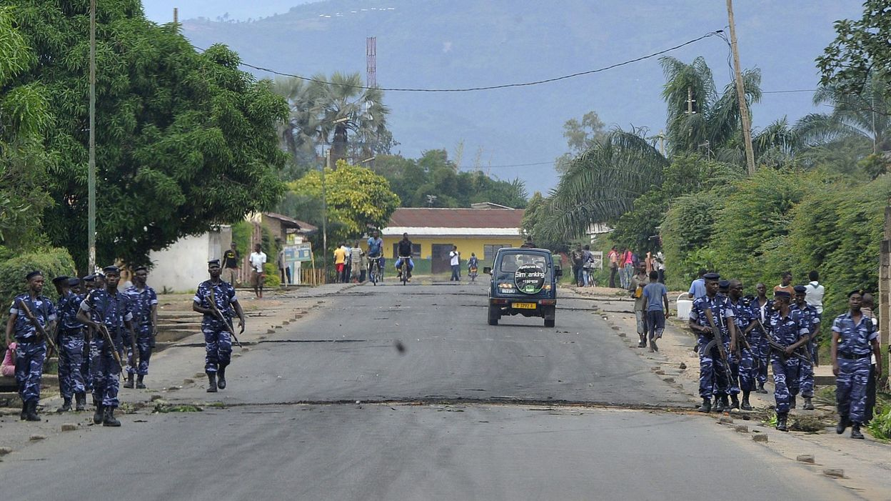 La police occupe les rues de Ngagara (avril 2015)