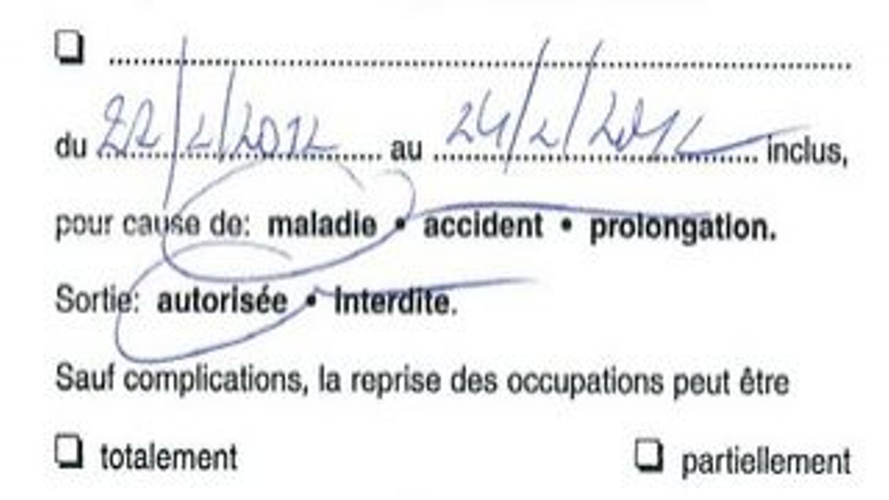 comment avoir un faux certificat medical