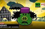 Capture d'écran - Mouammar Kadhafi transformé en un méchant cochon des