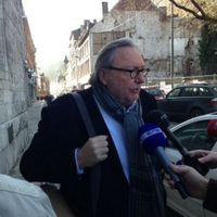Jean-Claude Van Cauwenberghe, L'ex-ministre président de la Région wallonne est arrivée à 14H au Parlement wallon