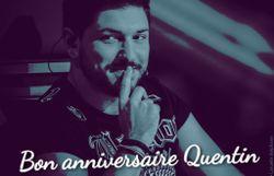 Souhaitez un 'Bon anniversaire' à Quentin !