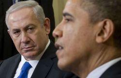Le Premier ministre israélien Benjamin Netanyahu et le président américain barack Obama (d), le 5 mars 2012 à Washington