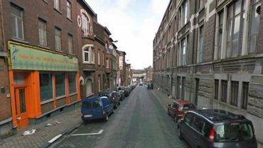La rue du Mambourg à Charleroi, théâtre de l'opération policière de lundi soir