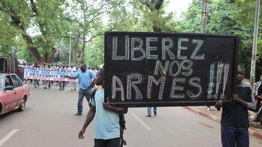 Une manifestation dans les rues de Bamako