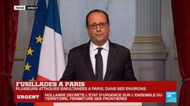 François Hollande décrète l'état d'urgence et ferme les frontières