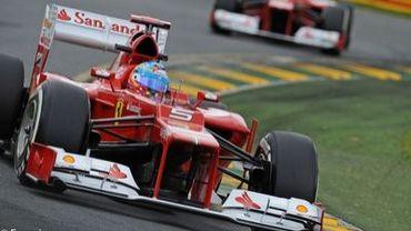 Ferrari touché mais pas coulé