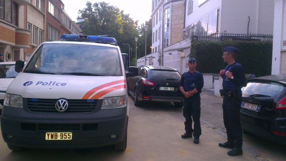 Sécurité renforcée devant l'ambassade d'Israel