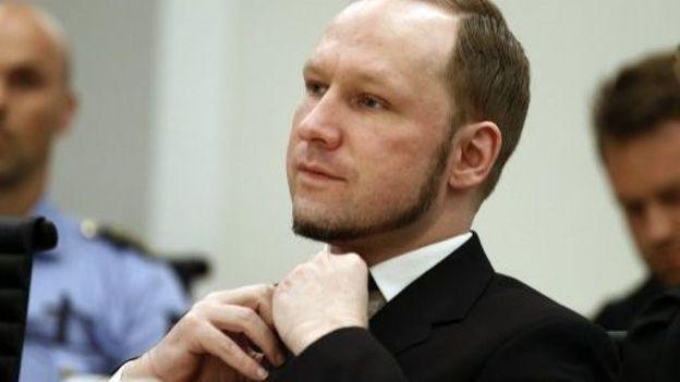 Anders Behring Breivik, lors de son procès, le 24 août 2012 à Olso
