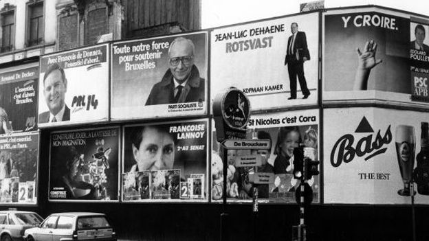 Affiches électorales en 1987