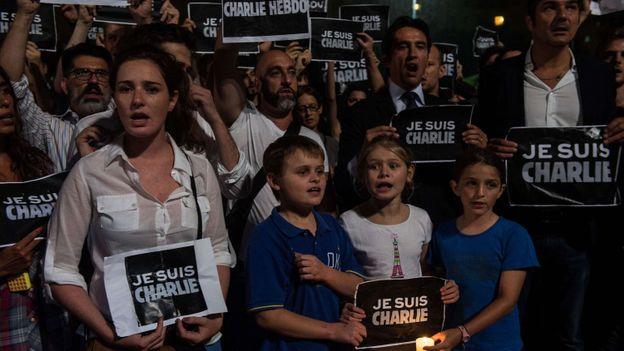 Rassemblement à Sao Paulo (Brésil).