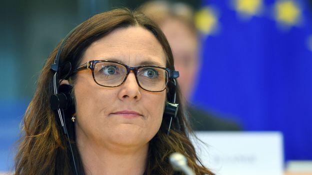 La commissaire européenne au Commerce Cecilia Malmström est en charge des négociations avec les Américains
