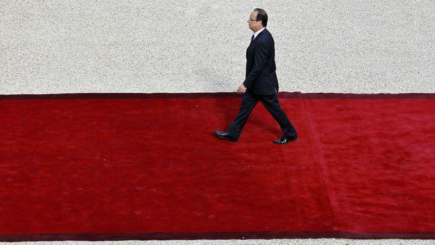 François Hollande arrive à l'Elysée.