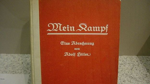 "Illustration de l'ouvrage ""Mein Kampf"", d'Adolf Hitler."