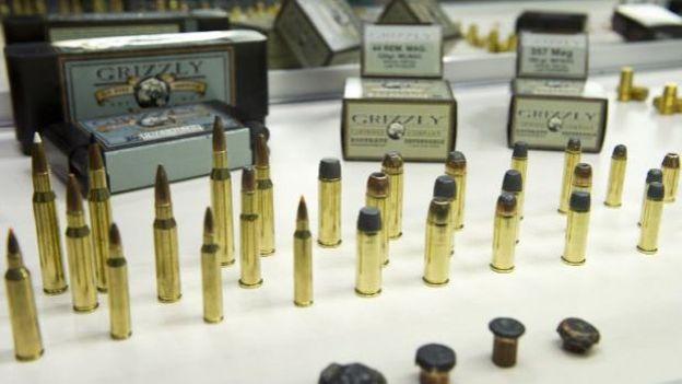 Des balles Grizzly Cartridge Company au salon de la NRA