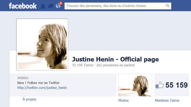 Vu sur Facebook: Justine Henin est enceinte