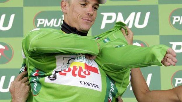 Philippe Gilbert en vert