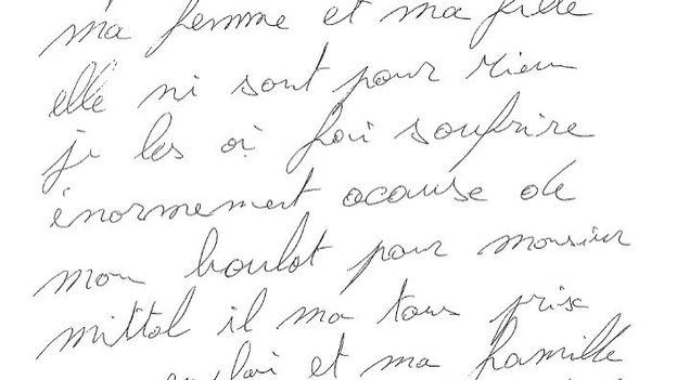 La lettre d'adieux d'Alain Vigneron