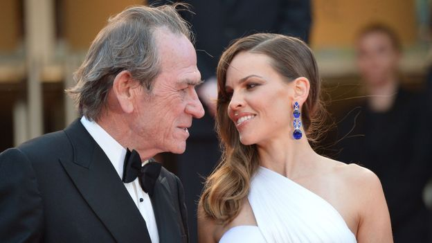 Hilary Swank couple