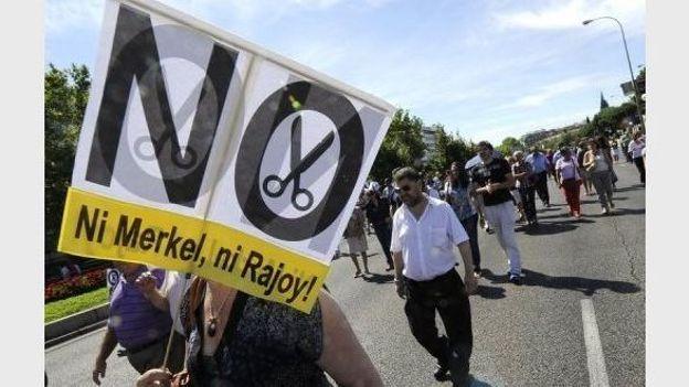 Manifestation anti rigueur le 29 août 2012 à Madrid