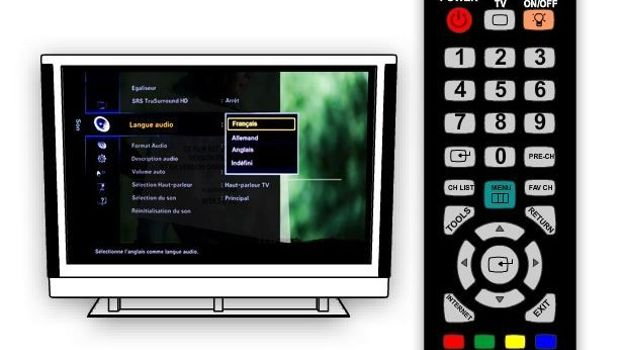 comment modifier la langue sur belgacom tv